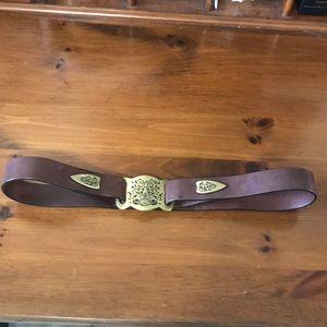 Tommy Bahama Indigo Palms Unique Leather Belt SZ S